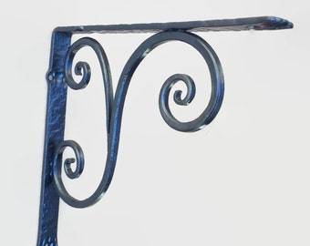 FREE SHIPPING---- USA and Canada only---Bracket classical with scroll wrought iron hand forged (cl-2)