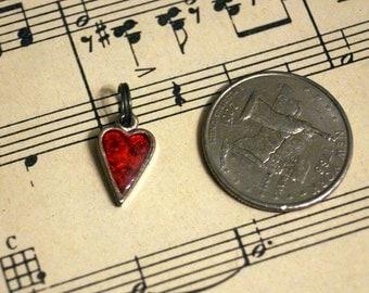 Sweet Red Heart Charm