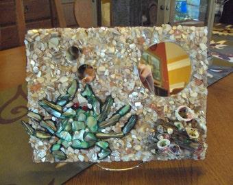Handmade Mosaic Blue Crab Mirror