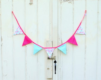 Pink Nautical Anchor Pennant Banner Bunting