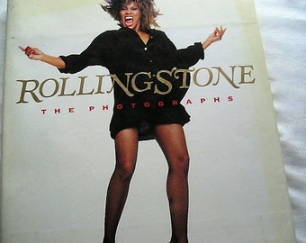 Vintage Book|Rolling Stone The Photographs|Pop Culture|Rolling Stone Magazine|1989|Coffee Table Book