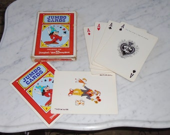 Jumbo Playing Cards 5x7inch Disneyland Mickey Mouse 1970s