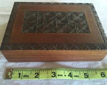 Polish Wood with brass inlay box