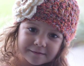 Cozy Crochet Beanie with Interchangeable Flower