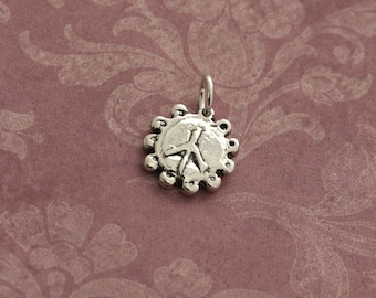 Artisan Sterling Silver Peace Sign Charm – Calieri