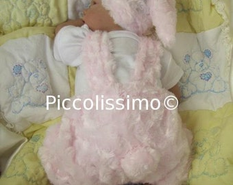 "Sweet Bunny Dungarees sewing pattern Preemie (18"")"