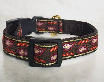 20mm Brocade Adjustable Quick release collar ideal for Terriers