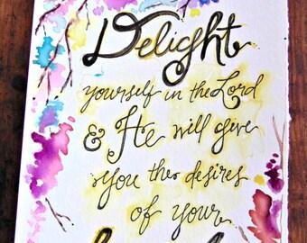 Inspirational Art: Delight In
