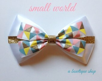 small world hair bow