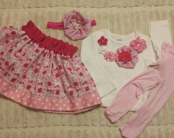 Hello Kitty Inspired . 6-12 months , 12 months , 18 Months . Birthday Girl . Baby clothes . Pink Kitty . Birthday months