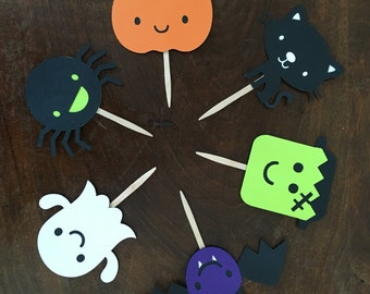 halloween cupcake toppers halloween party classroom party halloween favors halloween decor