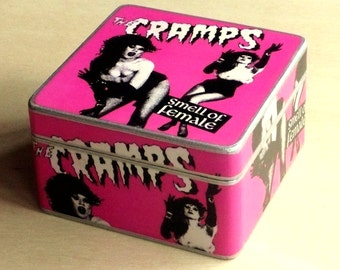Box The Cramps. Wooden box. Jewerly box