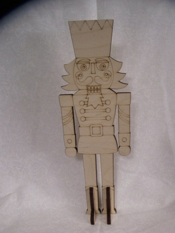 Items Similar To Nutcracker With Stand Laser Cut Ready