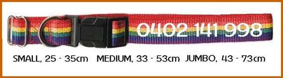Personalised Dog Collars - Embroidered with dog's name and a phone number.