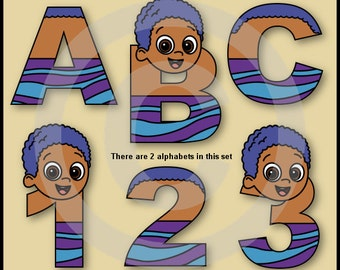 Goby (Bubble Guppies) Alphabet Letters & Numbers Clip Art Graphics
