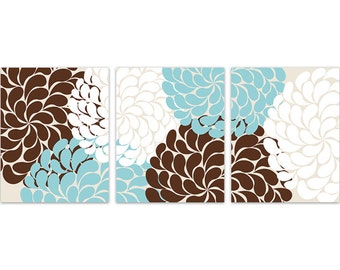 Teal And Brown Wall Decor home decor wall art instant download grey coral teal flower