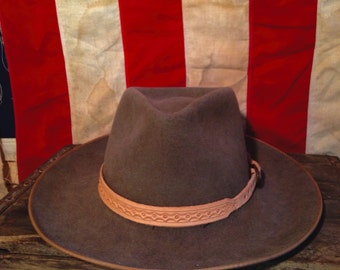 Stamped Leather Hat Band