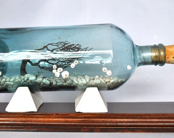 From Another Time And Place, message in bottle, Windswept tree, Sculpture