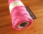 Hemp Cord - Bright Pink - #20 20lb / 1mm cord Hemptique - Five (5) Metres -   Jewellery Making Stringing Knotting Cord Thong