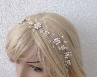 rhinestone sash belt, bridal sash, wedding accessories, rhinestone and pearl