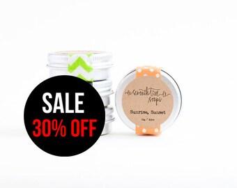 SALE 30% OFF Sweet Orange Lip Balm - Natural, Handmade, Vegan, Sugar-Free