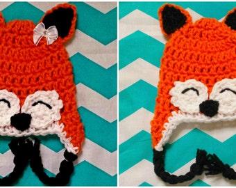 Fox crochet Hat Boy or Girl