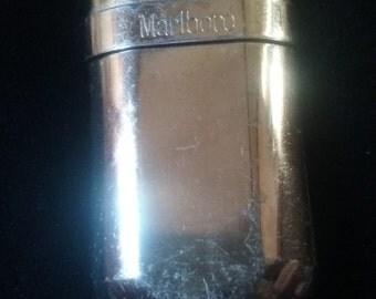 Vintage Brass Marlboro Cigarette Lighter
