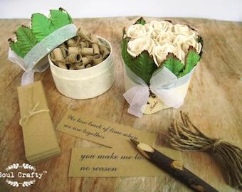 30 reasons I love you because Cream Rose gift box Valentine's gift Boyfriend Girlfriend Fiance anniversary Wedding Gift