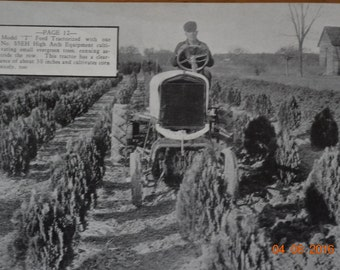 RARE Shaw Garden Tractor Catalog No 10 titled Scenes Of Action Antique Advertising Photo Mailer Shaw Garden Tractors Out Of Model A&T Fords