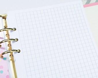 Printed Half Letter Size Grid Paper