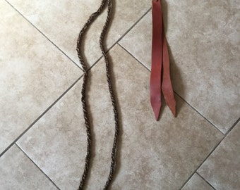 Vintage Prison Woven Horsehair Bridle Rope, Tassel, Tack