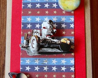 Handmade Cards, Handmade Birthday Cards, Space Card, Children's Birthday Card