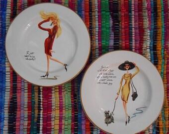 Glamour Girls plates