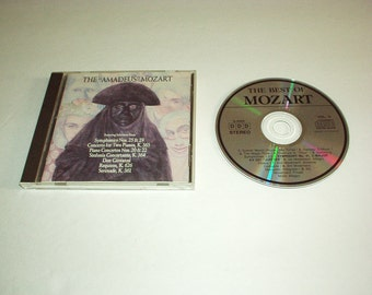 """Vintage 1990 The """"AMADEUS"""" MOZART CD Featuring from Symphonies Nos. 19 & 29/Concerto for Two Pianos K.365/Don Giovanni/Requiem K.626+ Rare"""
