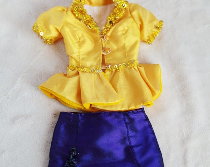 Set of silk jacket and skirt for Natalia Loseva. Also Minifee BJD by FL