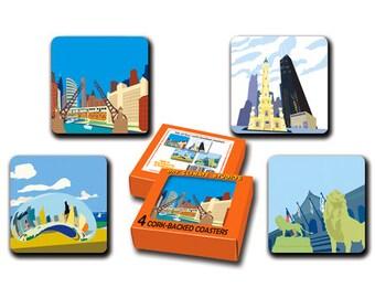 Chicago Icons Coaster Set