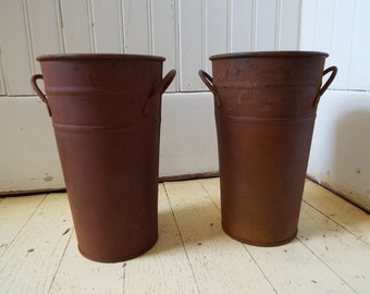 Set Two vintage Mini French Buckets