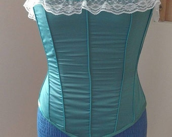 MADE-TO-ORDER Victorian Emerald Corset