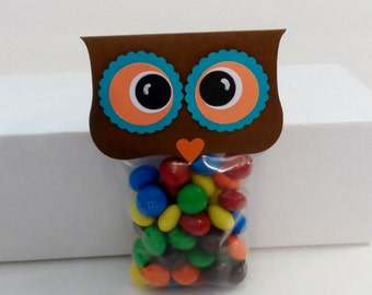 Owl Treat Toppers, Owl Party Favors