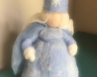 Needle felted snow princess waldorf inspired