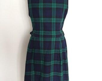 vintage dress//vintage check dress