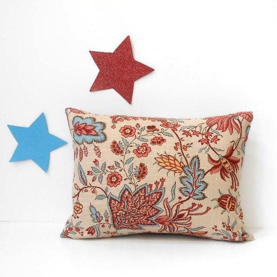 Decorative Pillow Cover 12x16 : Maroon Blue Lumbar Pillow Cover 12x16 Decorative Accent