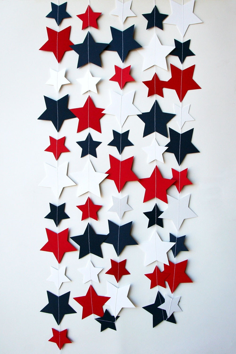 Star garland 4th of july garland 4th of july decor red for Decoration 4 july