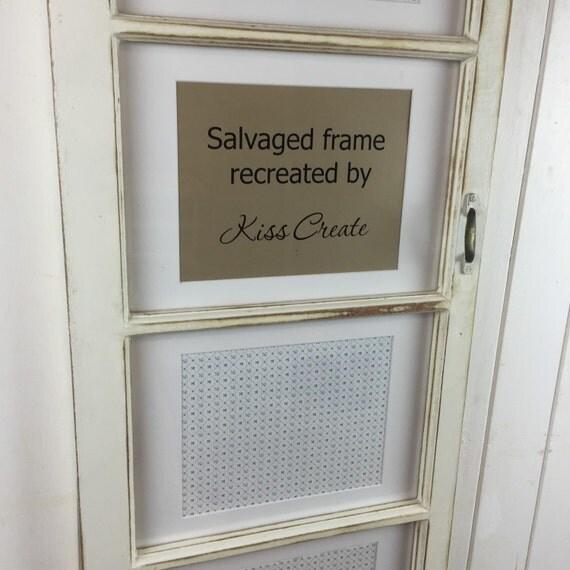Upcycled window photo fra...