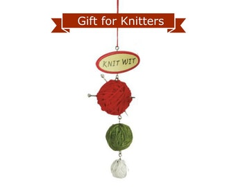 Knitting Holiday Ornament Knit Wit  35-908587-K