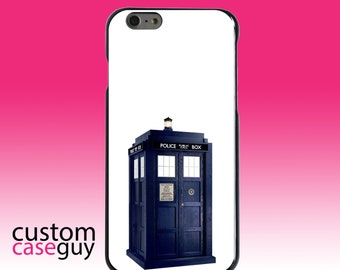 Hard Snap-On Case for Apple 5 5S SE 6 6S 7 Plus - CUSTOM Monogram - Any Colors - TARDIS Police Call Box