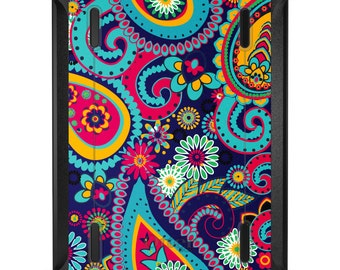 Custom OtterBox Defender for Apple iPad 2 3 4 / Air 1 2 / Mini 1 2 3 4 - CUSTOM Monogram - Hot Pink Paisley