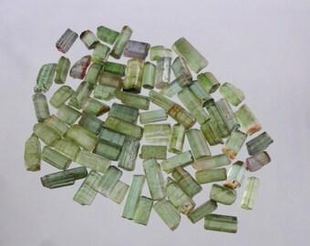 100cts Natural Green Tourmaline rough Pencil 75 pieces GW1660