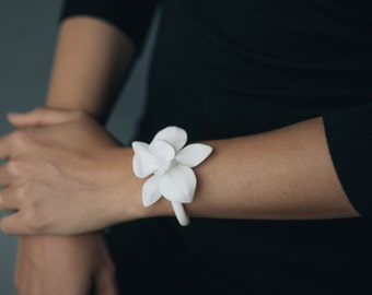 Orchid Bracelet- 3D Printed Jewelry in Nylon