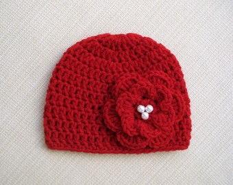 New born girl hat Baby girl newborn hat Crochet baby hat for girl Newborn girl Photo prop Newborn baby girl beanie Newborn beanie Winter hat